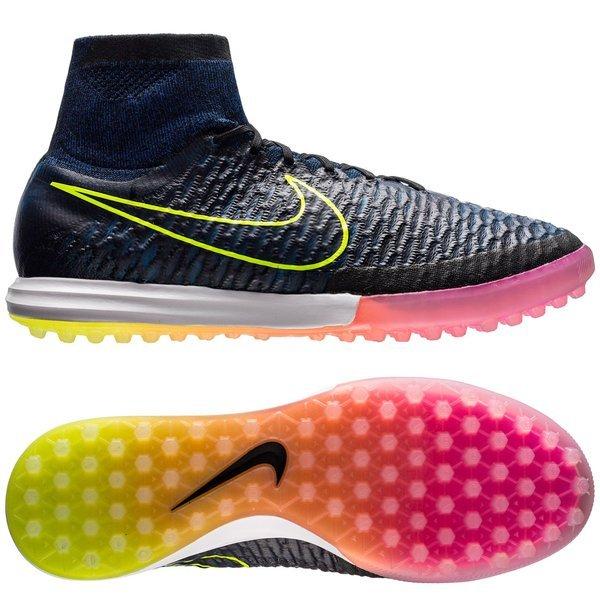 new style eadb8 22a93 Nike MagistaX Proximo TF Black Volt Racer Blue   www.unisportstore.com