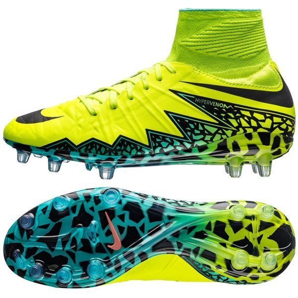 factory outlet quite nice lowest price Nike Hypervenom Phantom II FG Jaune Fluo/Noir/Turquoise Junior