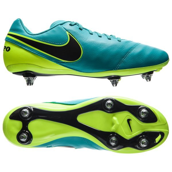 brand new 06e9a b1d97 Nike Tiempo Genio II SG Turquoise Noir Jaune Fluo 0