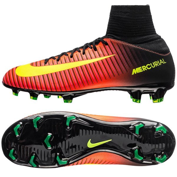 info for f24de 90d43 Nike Mercurial Superfly V FG Total Crimson/Volt/Black Kids ...