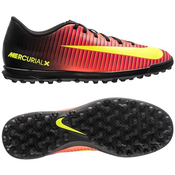 Nike Mercurial Vortex III TF Total Crimson Volt Black  3e5a242c28812