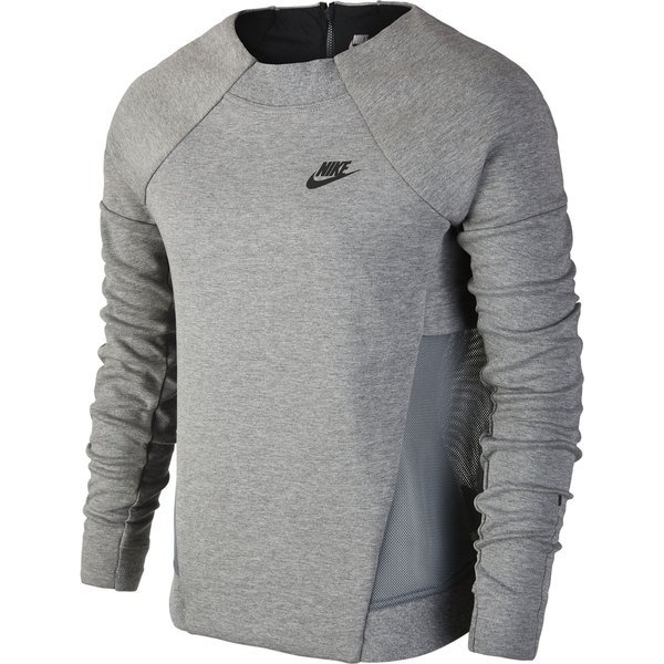 21167ce58 Nike Sweatshirt Tech Fleece Mesh Crew Carbon Heather/Dark Grey/Black ...