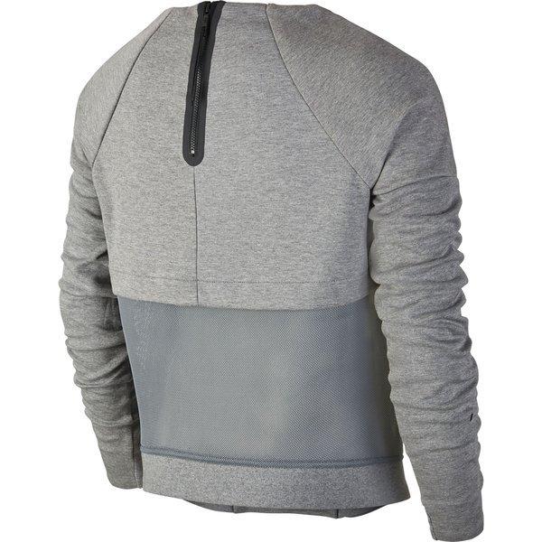 3b204126667 Nike Sweatshirt Tech Fleece Mesh Crew Grå/Sort Dame | www.unisport.dk