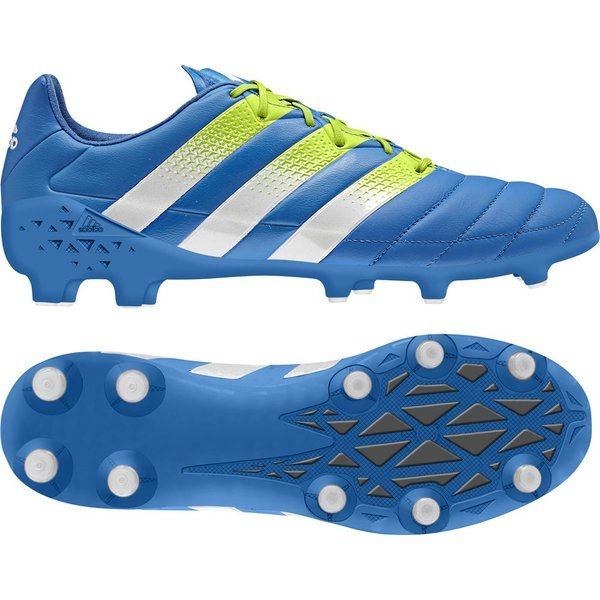 adidas ACE 16.1 FGAG Leather Leder Fußballschuhe blaugrün