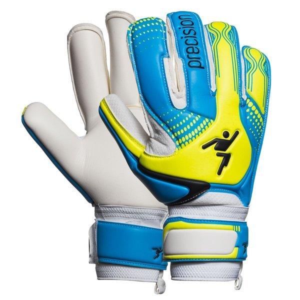 Precision Goalkeeper Glove Fusion-X Replica Roll Cyan Yellow White ... 686c300128