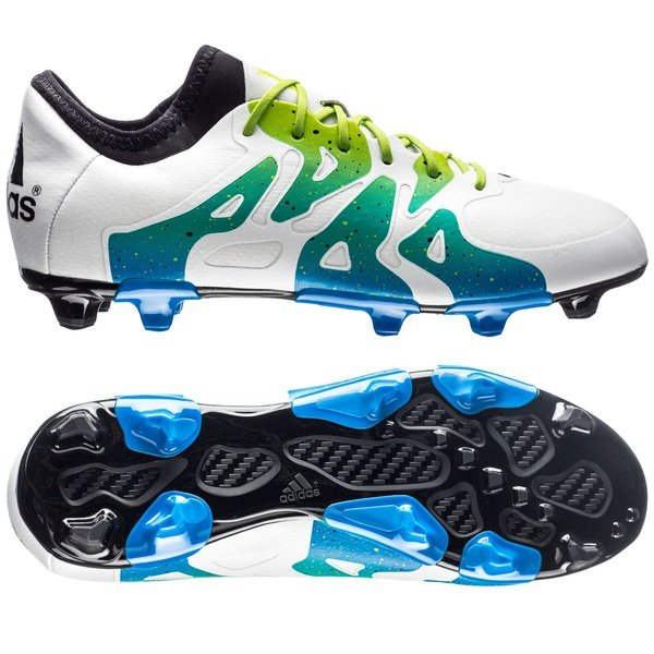 san francisco cd41a 29d75 adidas X 15.1 FG AG White Semi Solar Slime Core Black Kids. Read more about  the product. - football boots. - football boots image shadow