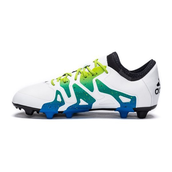 superior quality 03254 465ce adidas X 15.1 FG AG White Semi Solar Slime Core Black Kids. Read more about  the product. - football boots. - football boots image shadow. - football  boots