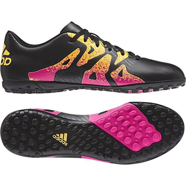 48f39a5a4ae7 adidas x 15.4 tf core black shock pink solar gold ...