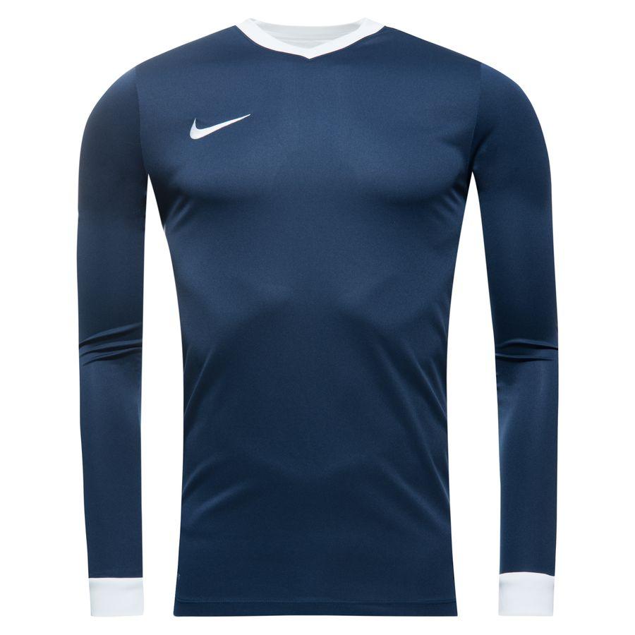 Nike Maillot Striker IV L/S University Bleu Marine/Blanc