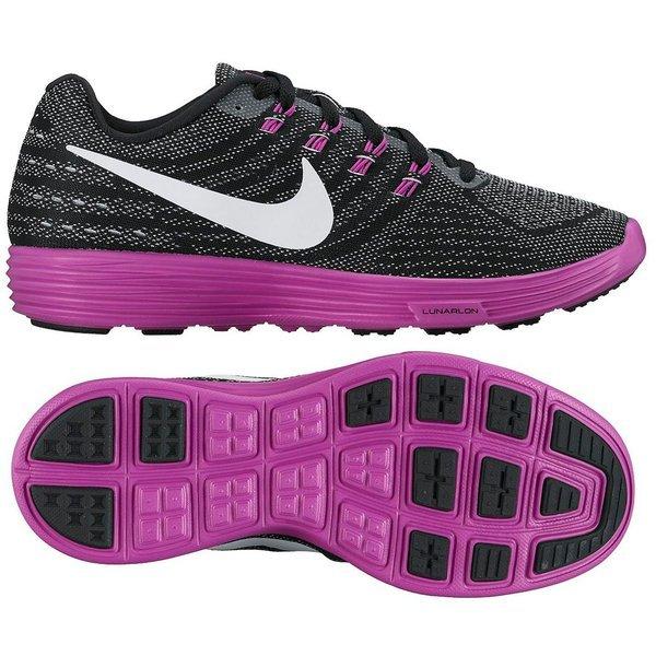 buy online 74c02 3e9ea Nike Chaussures de Running LunarTempo 2 Blanc Violet Noir - Femme 0