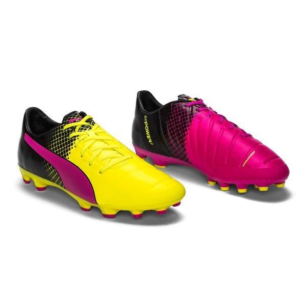 Puma evoPOWER 2.3 Tricks AG Pink Glow Safety Yellow Black  2e7afb14ffac