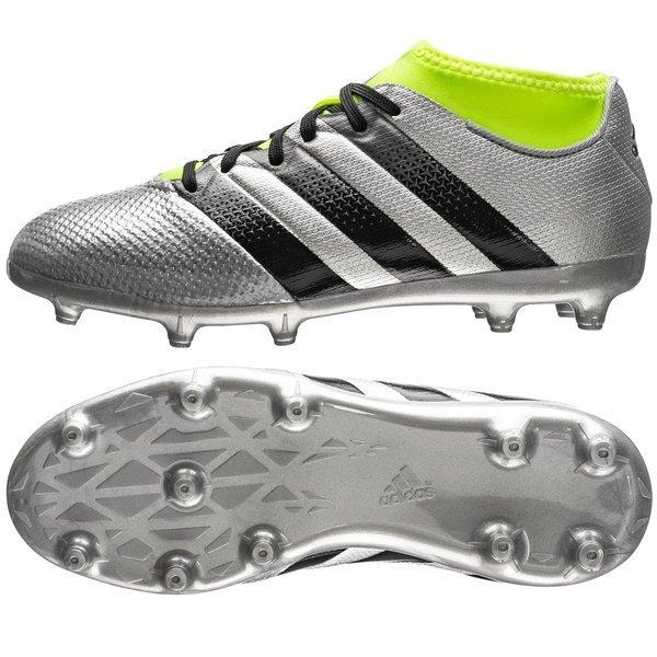 competitive price 1e587 15c29 adidas - ACE 16.3 Primemesh FG AG Mercury Silver Svart Gul Barn. Läs mer om  produkten. - fotbollsskor. - fotbollsskor image shadow