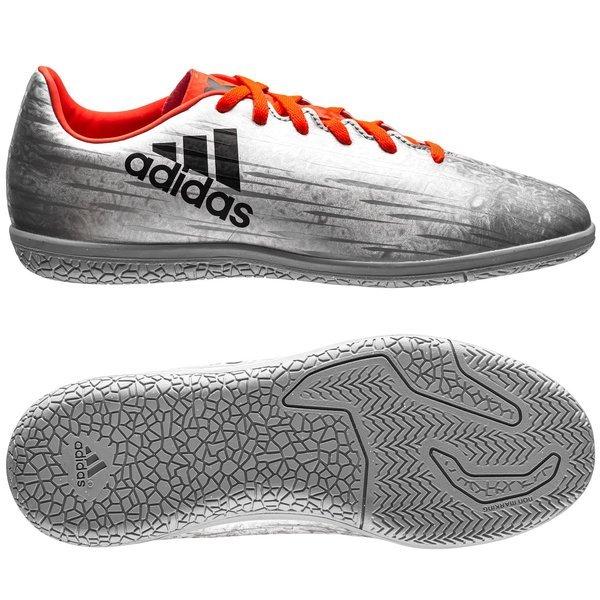 adidas X 16.3 IN Mercury Silver MetallicCore BlackSolar Red Kids PRE ORDE6