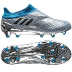 adidas Messi 16+ PureAgility FG/AG Mercury Silver Metalic/Core Black/Shock Blue Kids
