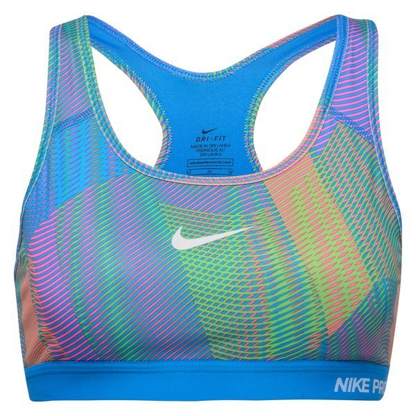 63ebff36ff4f1 Nike Pro Classic Padded Frequency Sports BH LT Photo Blue Hyper Pink ...