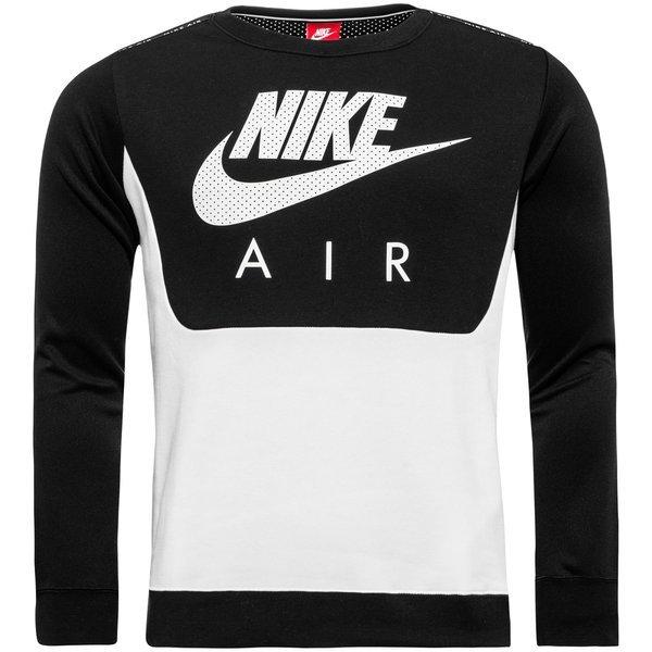 Nike Sweatshirt Air Hybrid Fleece Crew SchwarzWeiß | www