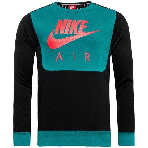 sale retailer 9dd12 978e9 nike sweatshirt air hybrid fleece crew rio tealblackbright crimson ...