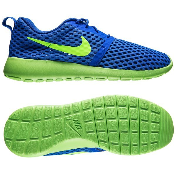 1c30373ef0df ... low price nike roshe one flight weight racer blue electric green kids  www b7f39 50bac