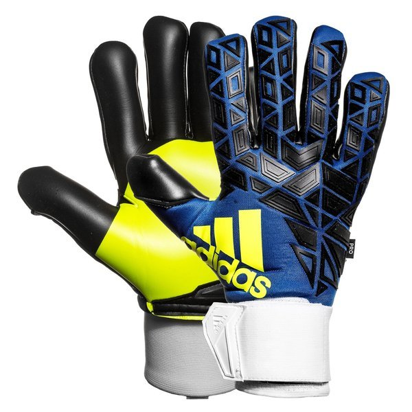 official site 50% off well known adidas Goalkeeper Glove ACE Trans Pro Iker Casillas Blue/Black/Solar Yellow