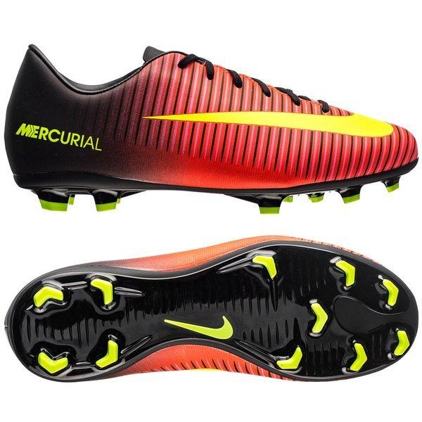 pretty nice bf6ec 0f76b Nike - Mercurial Vapor XI FG Röd Neon Svart Barn