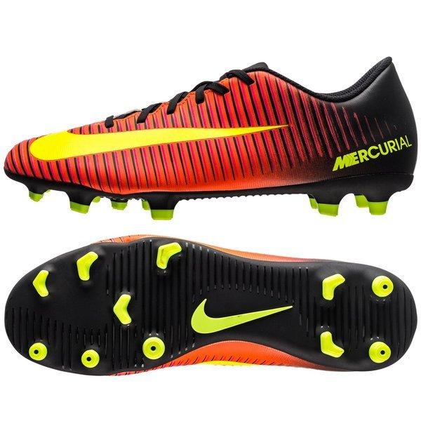 Nike Mercurial Vortex III FG RoodNeonZwart