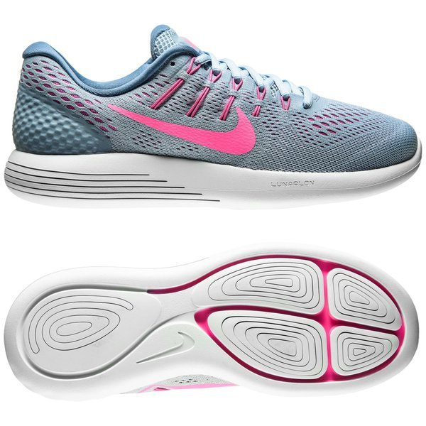the best attitude 9c7f9 b49d1 Nike Running Shoe Lunarglide 8 Blue Grey Pink Blast Blue Tint Women ...