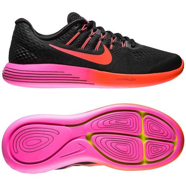 online store 7cdbf b4da5 Nike Running Shoe Lunarglide 8 Black Multi Color Noble Red Women    www.unisportstore.com