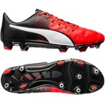 Puma evoPOWER 1.3 Leather FG Red Blast/Puma White/Puma Black