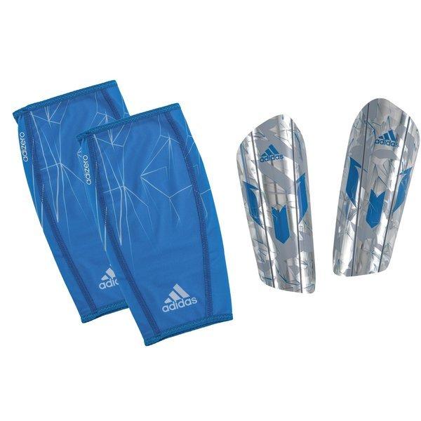 100% authentic the cheapest famous brand adidas Schienbeinschoner Messi 10 Pro Silber/Blau   www ...