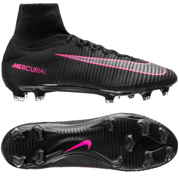 autumn shoes wholesale sales wholesale sales Nike Mercurial Superfly V FG Black/Pink Blast