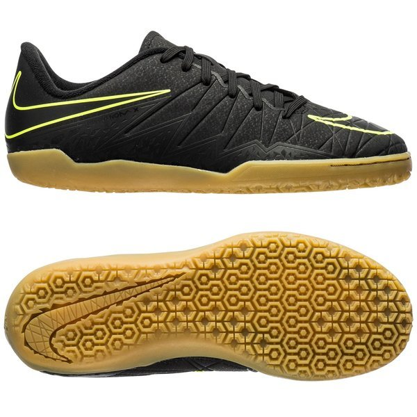 65f4e5b03 Nike Hypervenom Phelon II IC Black Volt Kids. Read more about the product.  - indoor shoes. - indoor shoes image shadow