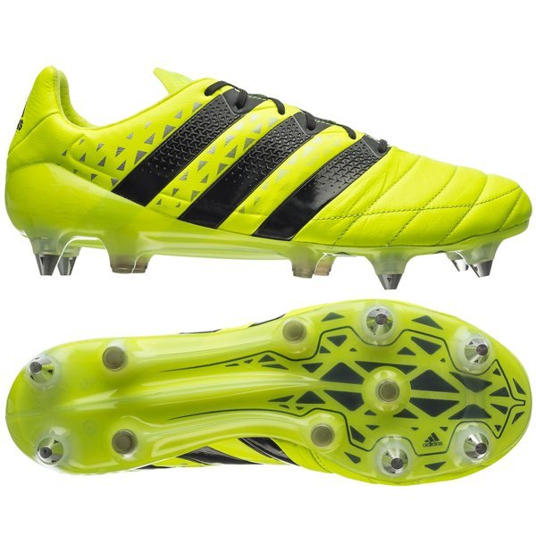brand new 8b602 02f82 adidas ACE 16.1 Leather SG Solar Yellow/Core Black/Silver ...