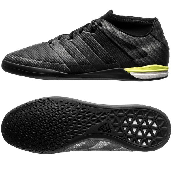 9a04ceac0054e2 adidas ACE 16.1 Street IN Core Black Solar Yellow. Read more about the  product. - indoor shoes. - indoor shoes image shadow