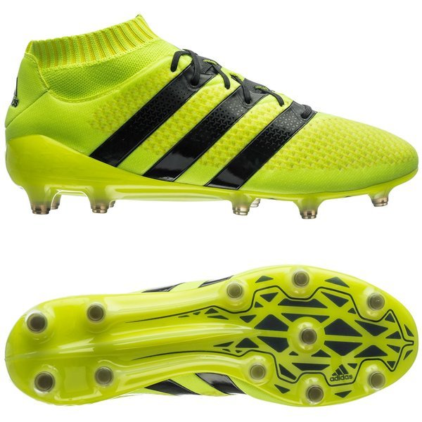 timeless design 54dda 01171 adidas ACE 16.1 Primeknit FG AG Solar Yellow Core Black Metallic Silver.  Read more about the product. - football boots. - football boots image shadow
