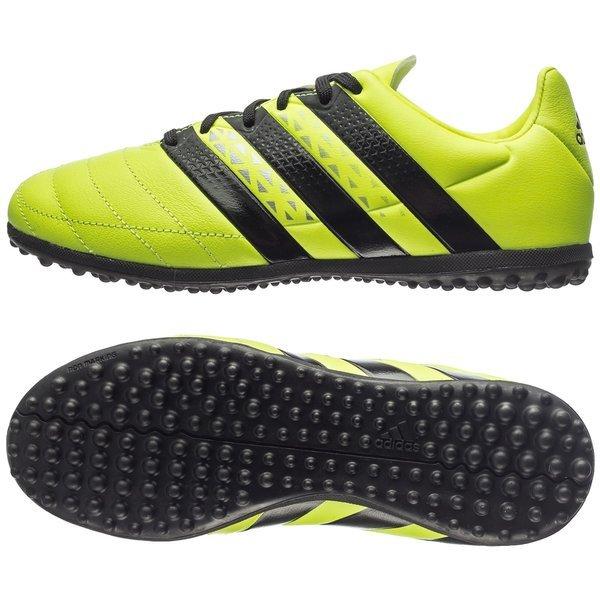b970fcfe59f890 adidas ACE 16.3 Leer TF Geel/Zwart Kinderen | www.unisportstore.nl