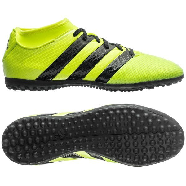 separation shoes 2590b 90314 adidas ACE 16.3 Primemesh TF Solar Yellow Core Black Silver Metallic Kids.  Read more about the product. - football boots. - football boots image shadow