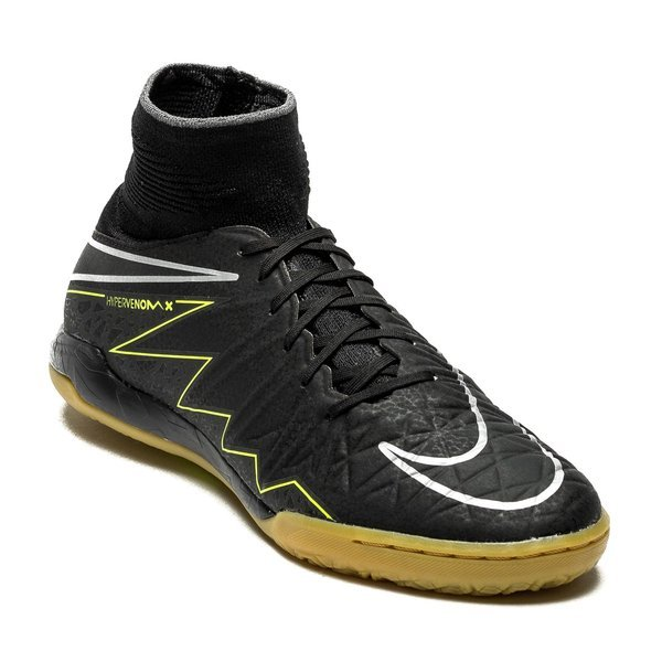 350e77685 Nike HypervenomX Proximo IC Black Volt Gum Light Brown Kids