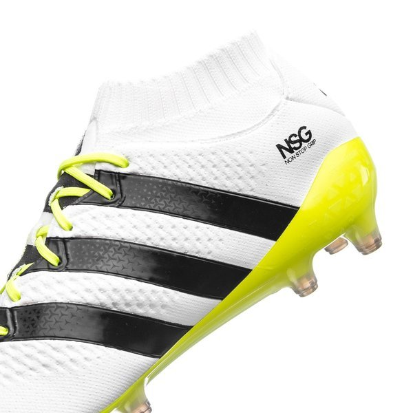 5fca535b8 adidas ACE 16.1 Primeknit FG AG Feather White Core Black Solar Yellow Women
