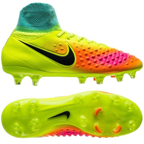 Nike Magista Obra II FG Volt Black Total Orange Pink Blast ... 8fcbeca52a