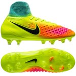 Nike Magista Obra II FG Volt/Black/Total Orange/Pink Blast/ HyperTurquoise Kids
