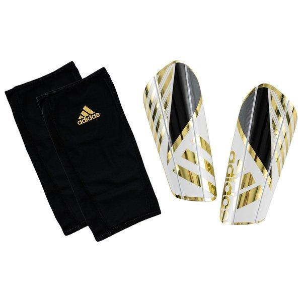 adidas Shin Pads Ghost Pro White/Core Black/Gold Metallic ...