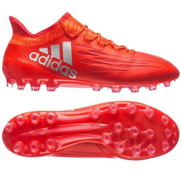 buy popular 16f68 311f2 adidas X 16.1 AG Solar Red/Metallic Silver   www ...