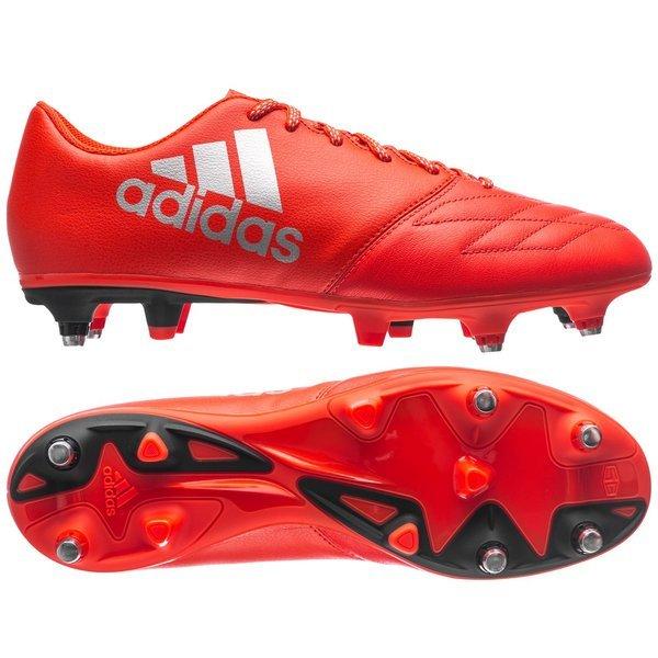 Adidas x in cuoio rosso / argento metallico / sg solare