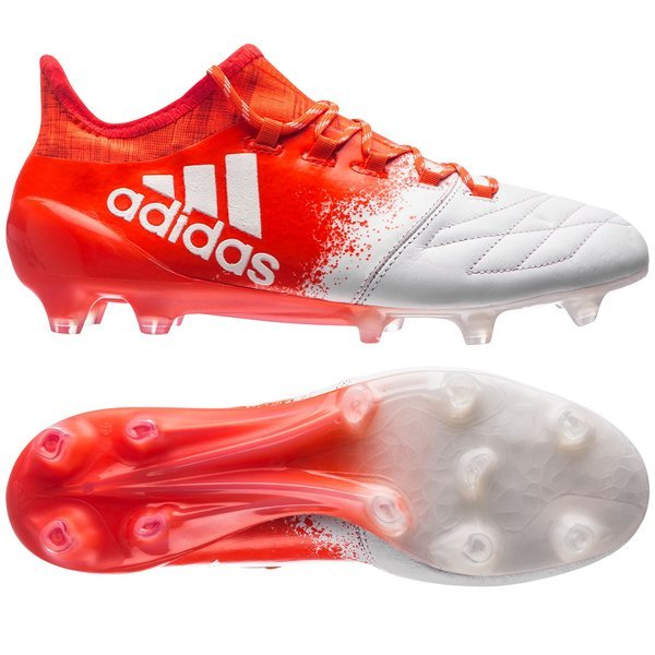 adidas X 16.1 Leather FG/AG Feather White/Solar Red Women. Read more about  the product. Compare models. - football boots. - football boots