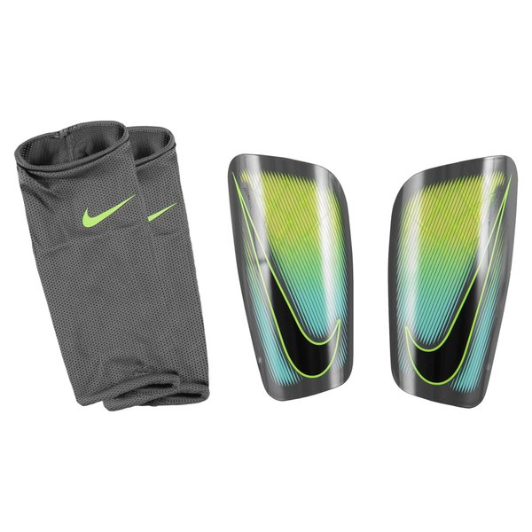 nike prot ge tibias mercurial lite gris jaune fluo. Black Bedroom Furniture Sets. Home Design Ideas