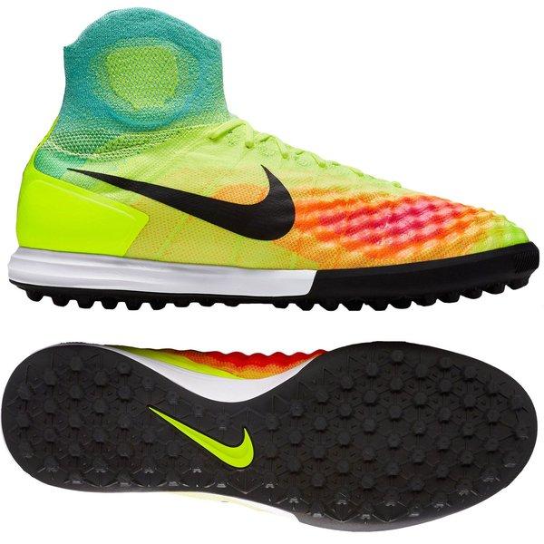 Nike MagistaX Proximo II TF Jaune FluoRoseTurquoise | www