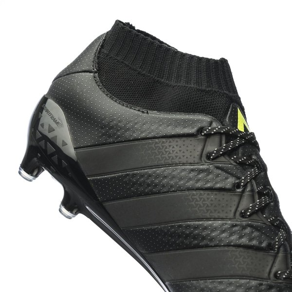 on sale 79b4c 7b1d9 adidas ACE 16.1 Primeknit FG/AG Core Black/Solar Yellow ...