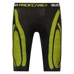 Select Profcare Compression Shorts - Noir/Jaune Fluo