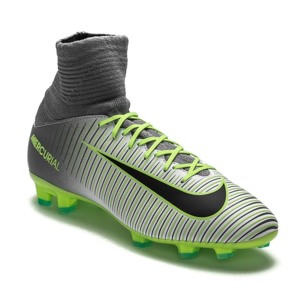 meet 03a40 1d076 Nike Mercurial Superfly V FG Elite Pack - Pure Platinum Black Ghost Green  Kids