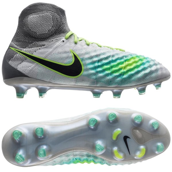 huge selection of dd93f 64f4a Nike Magista Obra II FG Elite Pack - Gris/Vert/Vert Turquoise | www ...